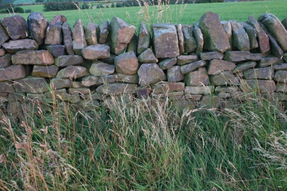 A dry stone wall. There are lots of these in the peaks.